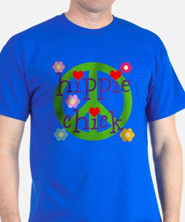 PEACE LOVE HEARTS FLOWERS T-Shirt