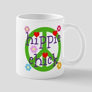 HIPPY CHICK - PEACE LOVE HEARTS 11 oz Ceramic Mug