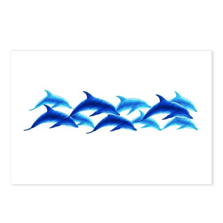 dancing dolphins Postcards (Package of 8)