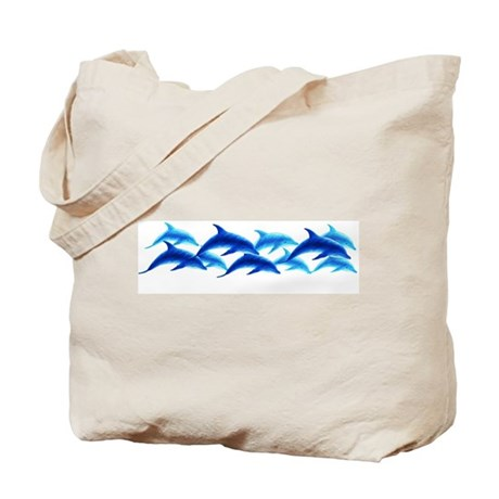 dancing dolphins Tote Bag