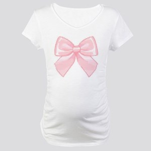 Girly Bow Maternity T-Shirt