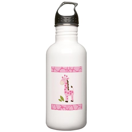 Bright Pink Giraffe Stainless Water Bottle 1.0L