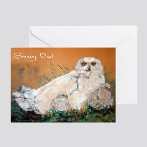 Snowy Owls Greeting Cards (Pk of 10)