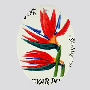1965 Hungary Bird of Paradise Postag Oval Ornament