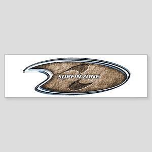 brown surfinzone Bumper Sticker