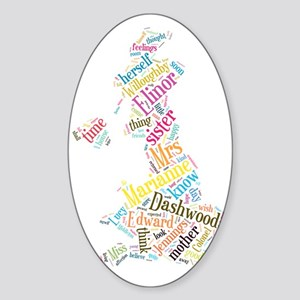 Sense and Sensibility Word Cloud Sticker (Oval)