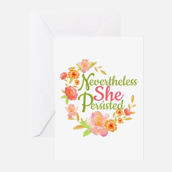 Nevertheless She Persisted Greeting Cards