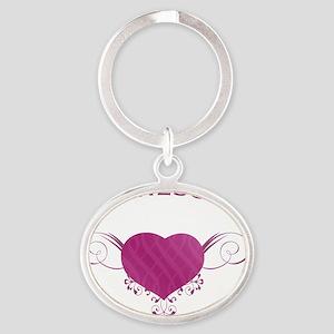 Minnesota State (Heart) Gifts Oval Keychain