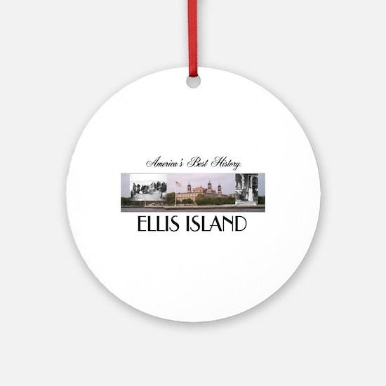 ABH Ellis Island Round Ornament