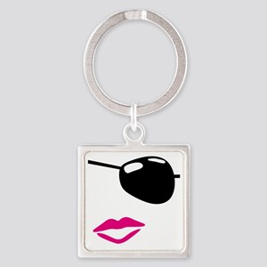 Eye Patch Square Keychain