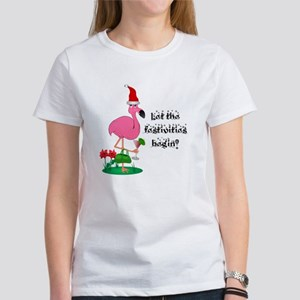 Christmas flamingo T-Shirt