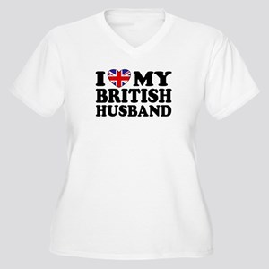 I Love My British Husband Women's Plus Size V-Neck