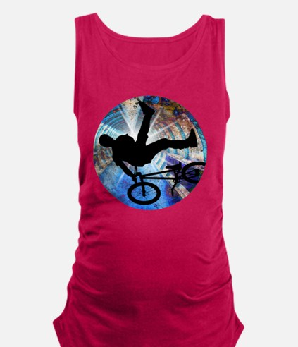 BMX in Grunge Tunnel Maternity Tank Top