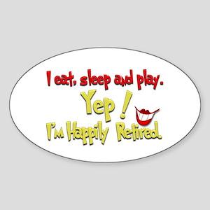 'I'm Smilin Cuz.(1):-) Oval Sticker