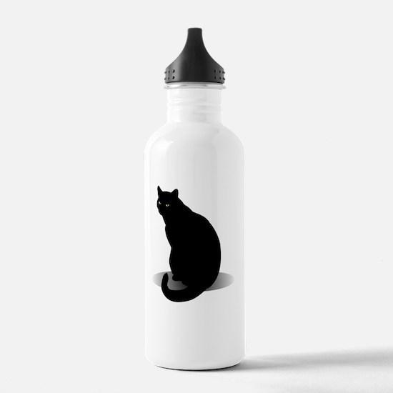 Basic Black Cat Water Bottle