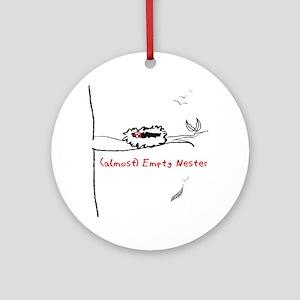 (almost) Empty Nester Round Ornament