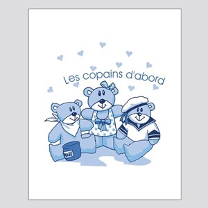 3 teddy bears Small Poster