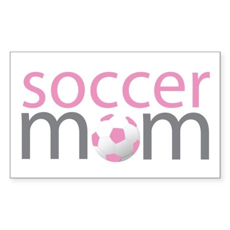 soccer mom and kid Rectangle Sticker