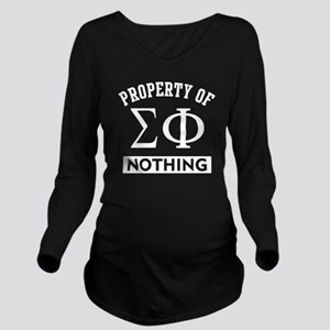 Sigma Phi Nothing Long Sleeve Maternity T-Shirt