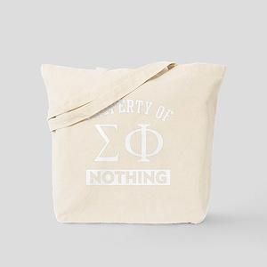 Sigma Phi Nothing Tote Bag