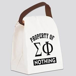 Sigma Phi Nothing Canvas Lunch Bag