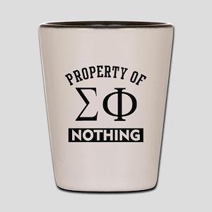 Sigma Phi Nothing Shot Glass