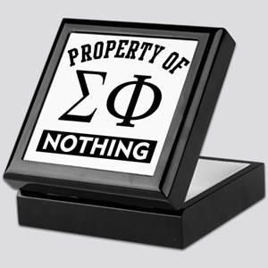 Sigma Phi Nothing Keepsake Box