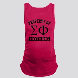 Sigma Phi Nothing Maternity Tank Top