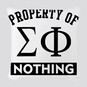 Sigma Phi Nothing Woven Throw Pillow