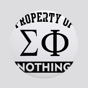 Sigma Phi Nothing Round Ornament