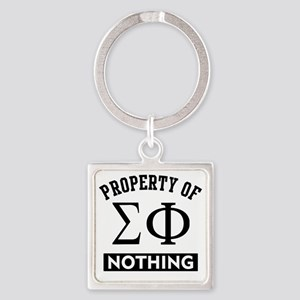 Sigma Phi Nothing Square Keychain