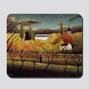 Henri Rousseau: Landscape with Farmer Mousepad