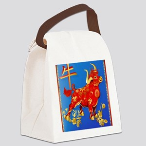 Year Of The Ox Canvas Lunch Bag