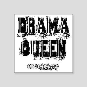 "Drama Queen F T-Shirt Square Sticker 3"" x 3"""