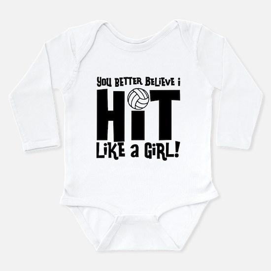 HIT LIKE A GIRL Infant Bodysuit Body Suit