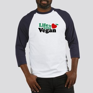 Life is Better Vegan Baseball Jersey