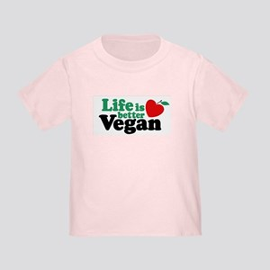 Life is Better Vegan Toddler T-Shirt