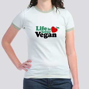 Life is Better Vegan Jr. Ringer T-Shirt