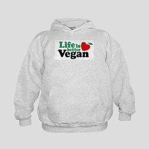 Life is Better Vegan Kids Hoodie
