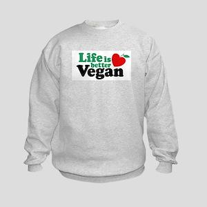 Life is Better Vegan Kids Sweatshirt