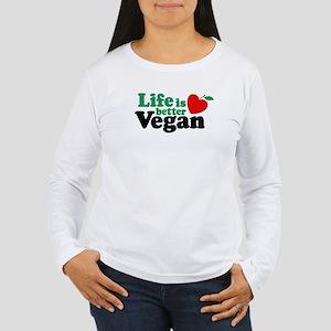 Life is Better Vegan Women's Long Sleeve T-Shirt