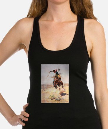 A Bad Hoss by Charles Marion Russell Tank Top