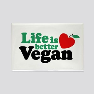 Life is Better Vegan Rectangle Magnet