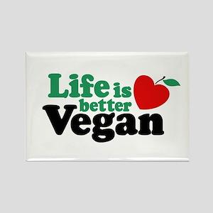 Life is Better Vegan Rectangle Magnet