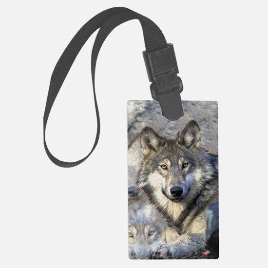 Wolf Luggage Tag