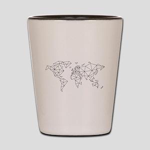 Geometric world map Shot Glass