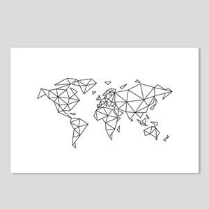 Geometric world map Postcards (Package of 8)