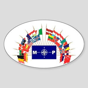 NATO MP Oval Sticker