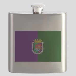Malaga City (Dark) Front and Back. Flask