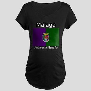 Malaga City (Dark) Front an Maternity Dark T-Shirt